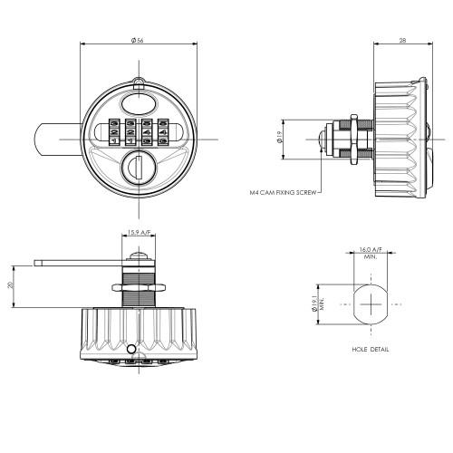 combination lock 2800